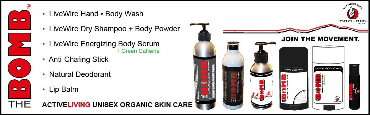 THE BOMB Slide Slide ActiveLiving Unisex Organic Skin Care