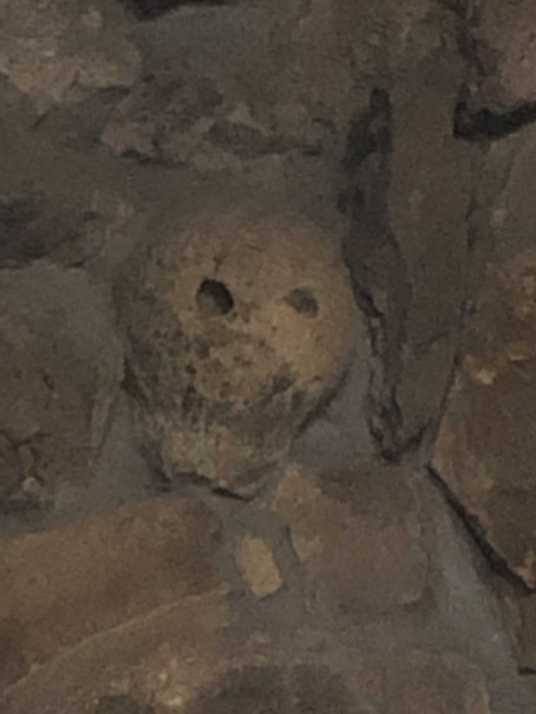 Skull in the fireplace